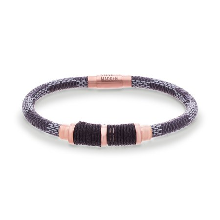 Stainless Steel Braided Leather Wrap Cord Bracelet Braided Leather Cord Bracelet