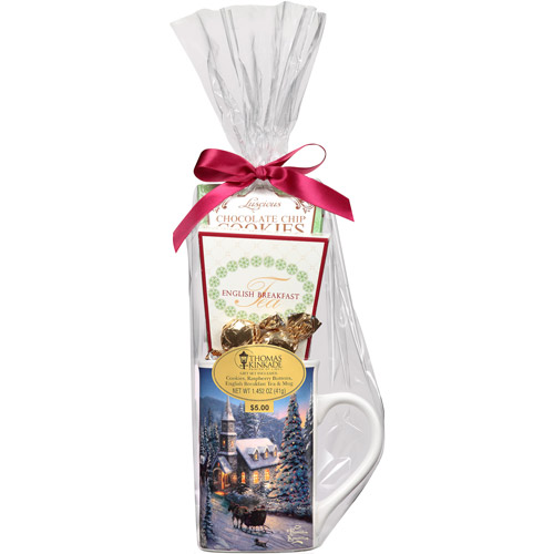 Holiday Thomas Kinkade Tea & Mug Assortment Gift Set, 5 pc (Design will vary)