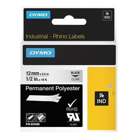 Rhinopro Industrial Label Tape - DYMO Rhino Permanent Vinyl Industrial Label Tape, 1/2