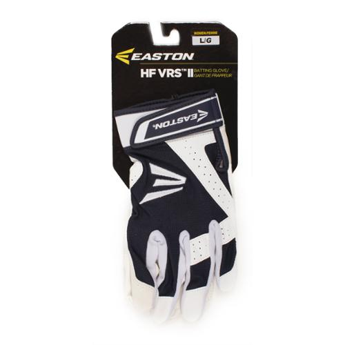 Easton A121855PRL HF VRS II Woman's Fastpitch Batting Gloves, White/Navy L