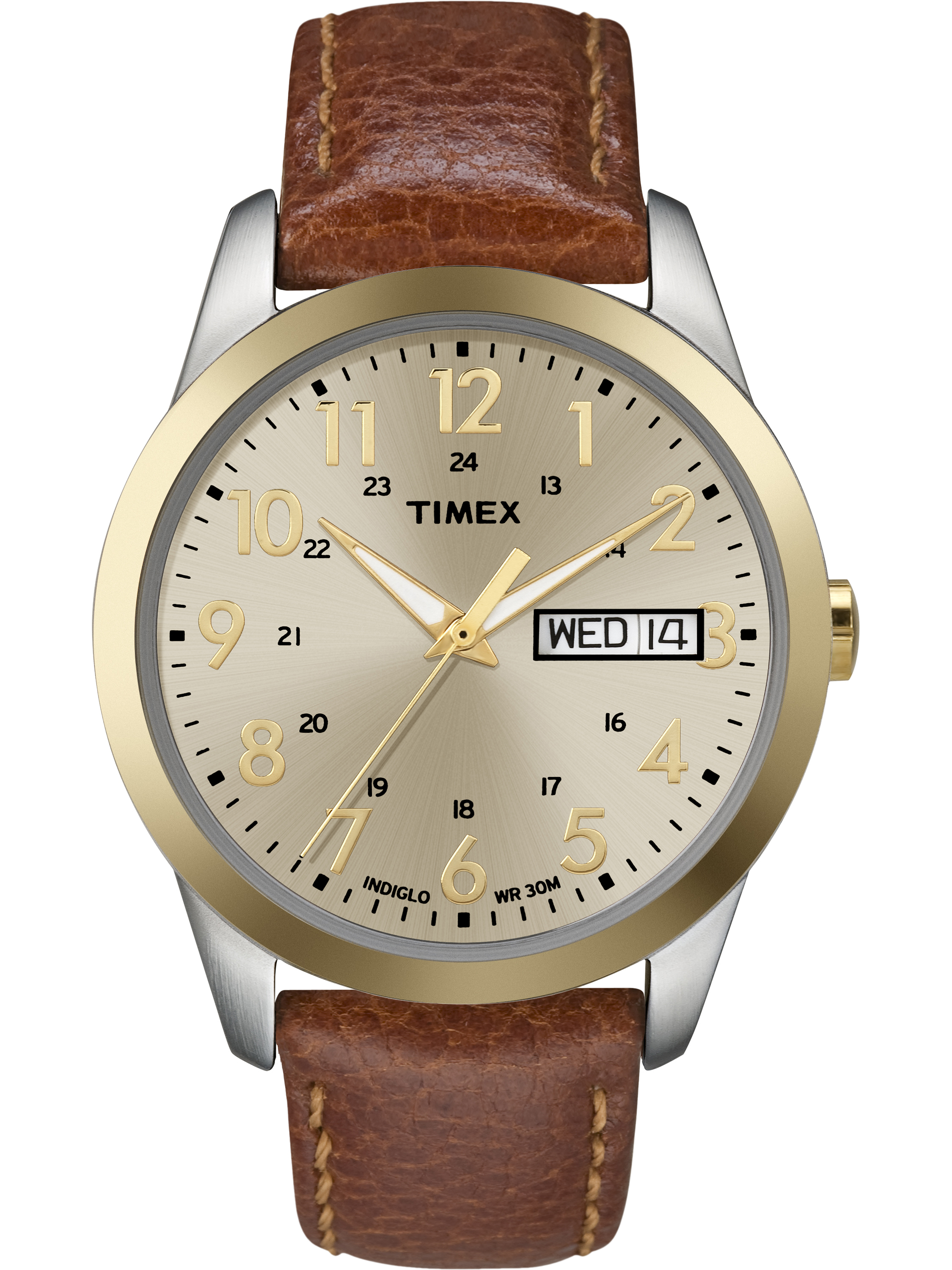 Timex Men's South Street Sport Watch, Brown Leather Strap by Timex