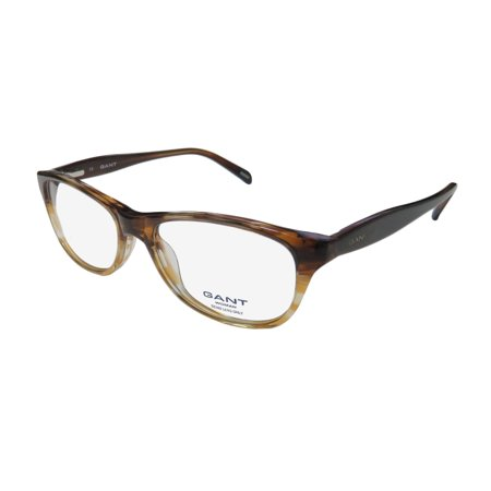 New Gant Paige Womens/Ladies Cat Eye Full-Rim Brown Sophisticated Cat Eyes Adult Size Frame Demo Lenses 52-16-140 Spring Hinges Eyeglasses/Spectacles - Baby Eyes Brown Halloween Contact Lenses
