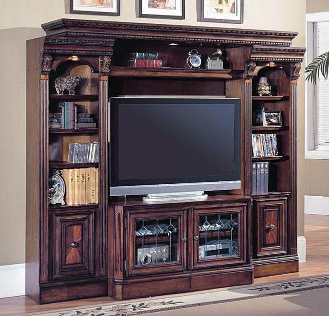 4 Pc Entertainment Center Wall w Expandable Console - Huntington