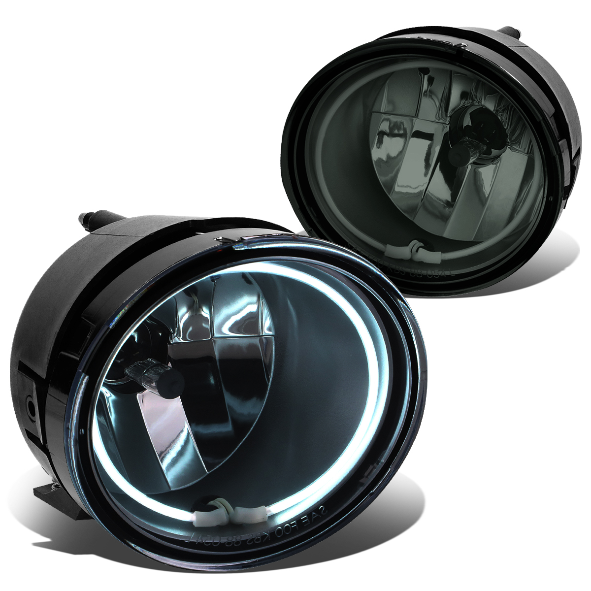 For 05 15 Nissan Frontier / Xterra Pair Of Bumper Halo Ring Fog Lights+