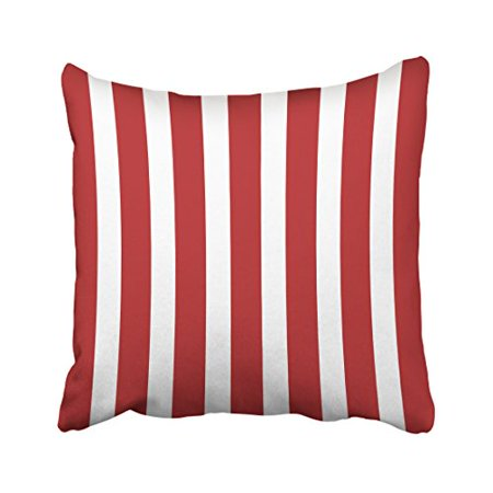 WinHome Square Throw Pillow Covers Retro Nautical Stripe In Patriotic Red Pillowcases Polyester 18 X 18 Inch With Hidden Zipper Home Sofa Cushion Decorative Pillowcase](Patriotic Pillows)
