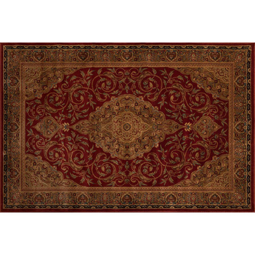 Better Homes And Gardens Gina Area Rug, Garnet Red