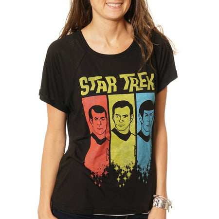 Women's Star Trek Hi-Lo Graphic T-Shirt - Star Trek Womens Uniform