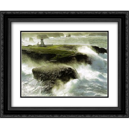 Avis De Coup De Vent Sur Les 2x Matted 15x18 Black Ornate Framed Art Print by Philip