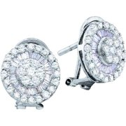 Gold and Diamonds EWW1037-W 1.10CT-DIA FLOWER EARRING- Size 7