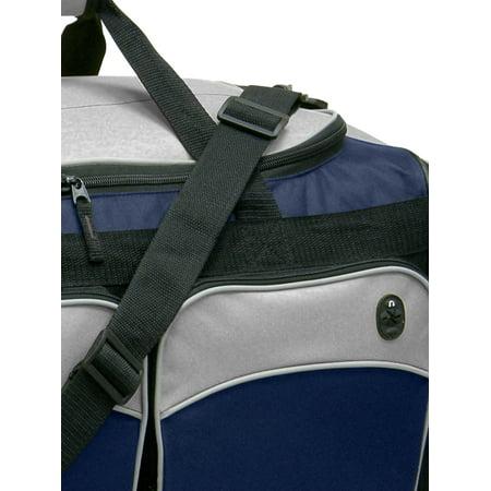 "Travelers Club 28"" Jumbo Multi-Pocket Duffel - Blue 4"