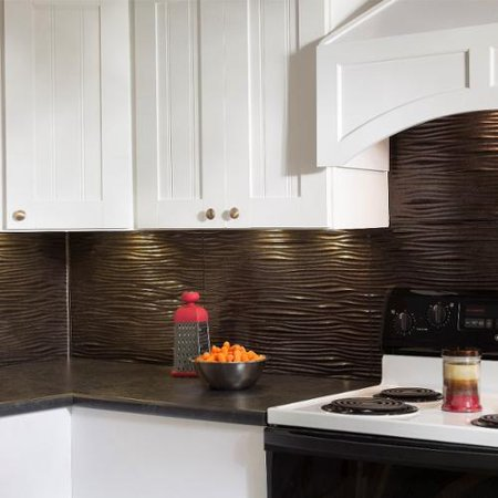 Groovy Fasade Waves Smoked Pewter 18 Square Foot Backsplash Kit Download Free Architecture Designs Salvmadebymaigaardcom