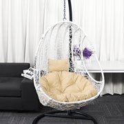 Round Pillow Cushion Mat Hanging Hammock Swing Chair Back Pad,hanging basket Indoor and outdoor swing decoration,Fit Children & adult swing