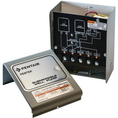 Pentek VIP4E02 Capacitor Start Capacitor Run Well Pump Control Box, 330 V, 1 hp, NO 4