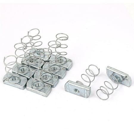 - 10pcs M8 x 6mm Zinc Finish Spring Channel Nuts for Unistrut Channels Contractors