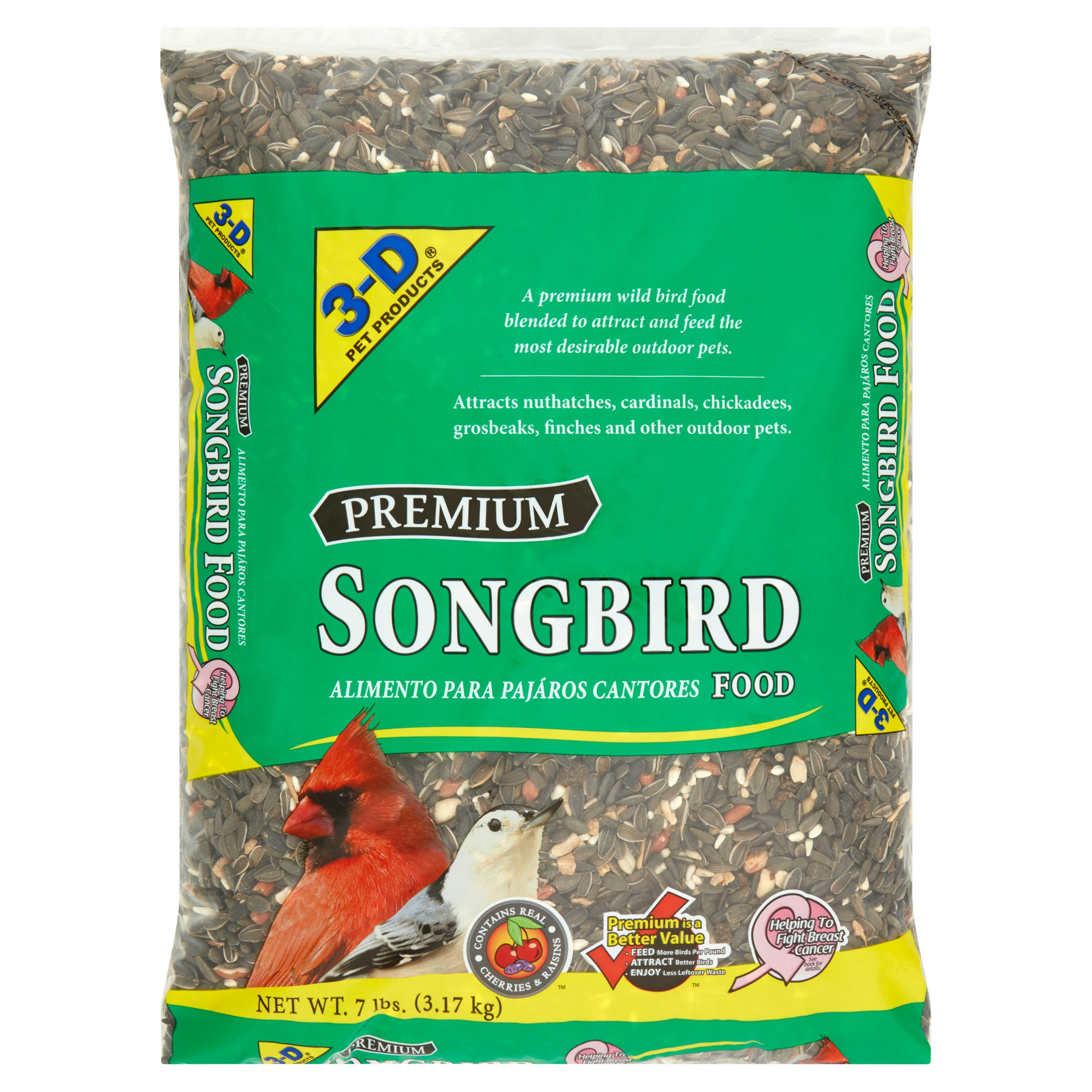 3-D Pet Products Premium Songbird Food Dry Bird Food, 7 LB by D & D Commodities Ltd.