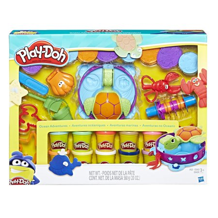 Play-Doh Ocean Adventure Mega Set with 10 Pack of Dough & 20 Tools!