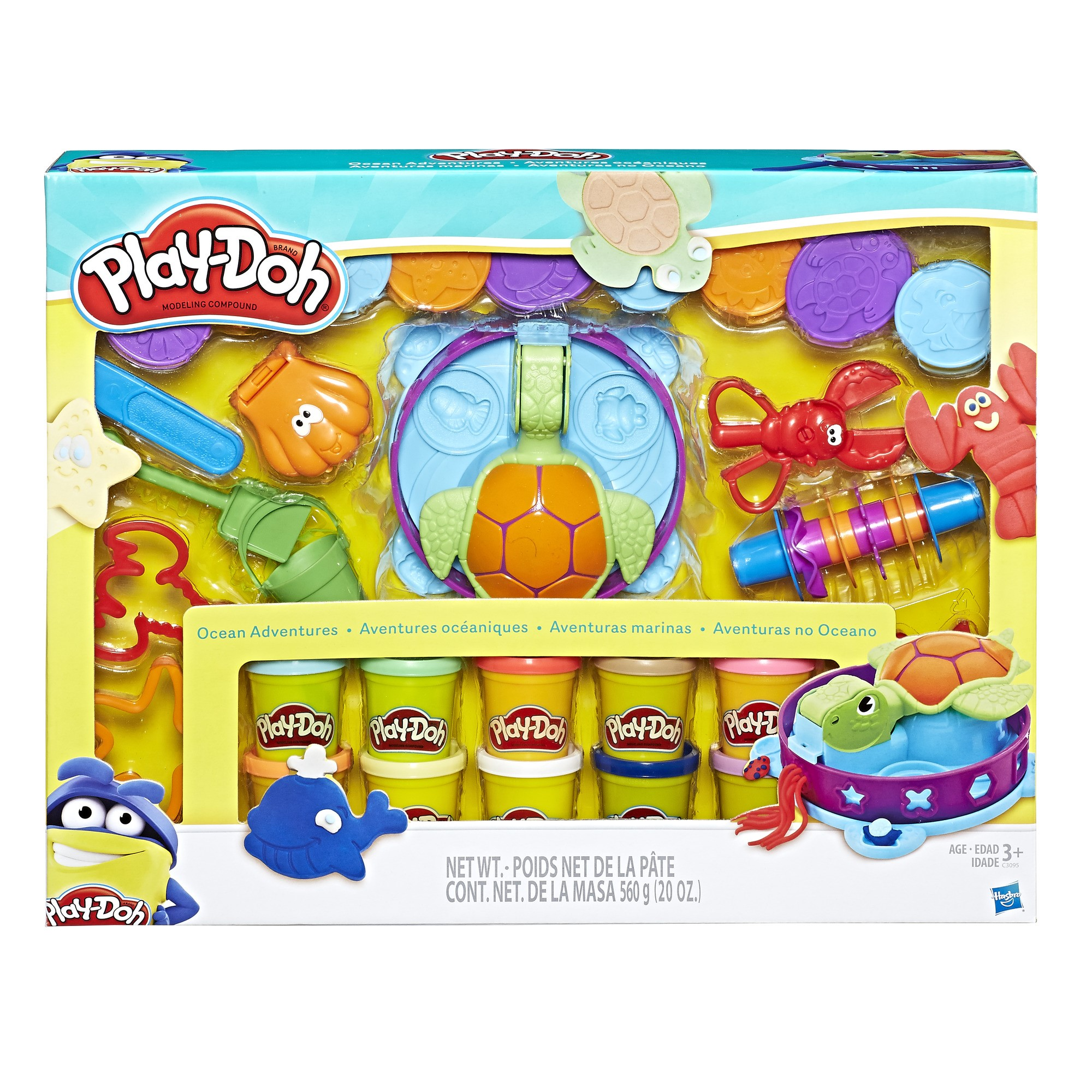 Play-Doh Ocean Adventure Mega Set with 10 Pack of Dough & 20 Tools!