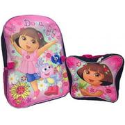 Backpack - Dora the Explorer - Butterfly School Bag w/ Lunch Bag New 053276
