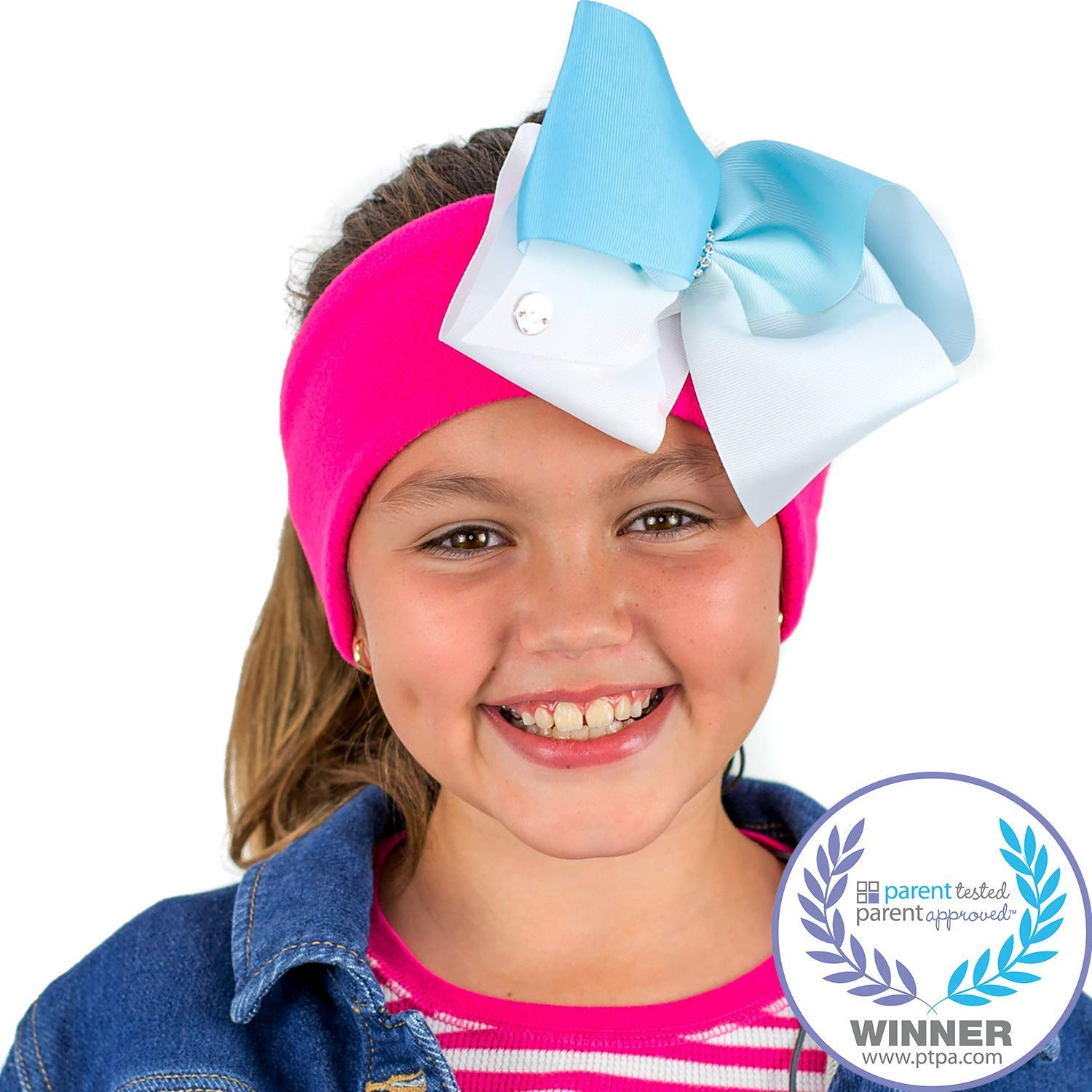 a3badbe3508 CozyPhones Kids Headphones Volume Limited with Ultra-Thin Speakers Soft  Fleece Headband - Perfect Children's Earphones for Home and Travel - Jojo  Siwa Bow