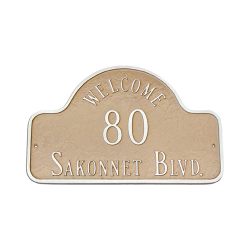 Montague Metal Products Inc. Welcome Arch Large Address Plaque