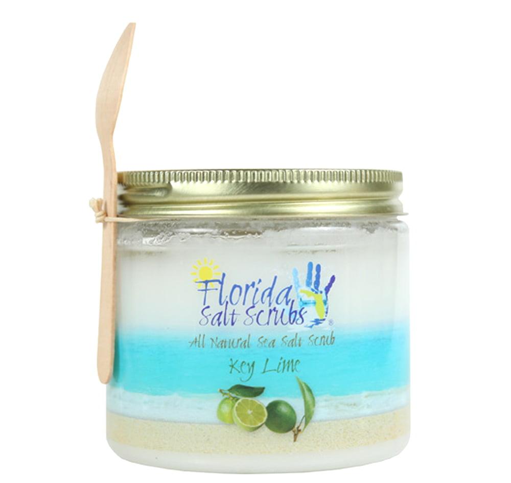 Florida Salt Scrubs Key Lime Body Feet Hands Bath Salt Scrub 24.2 oz Jar