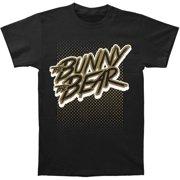 Bunny The Bear Men's  Food Chain Cover T-shirt Black