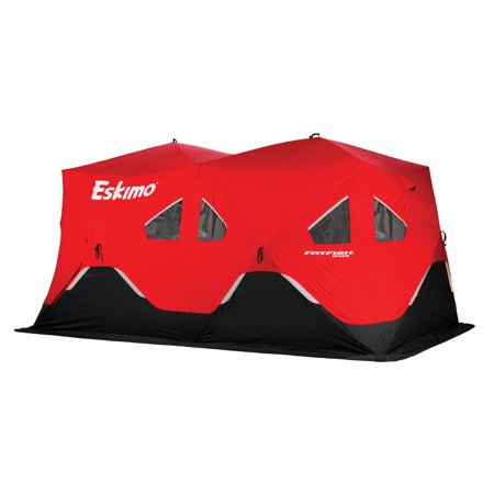 Eskimo FatFish Portable 7-9 Person Pop Up Ice Fishing Shanty Shack Shelter - Eskimo Suits
