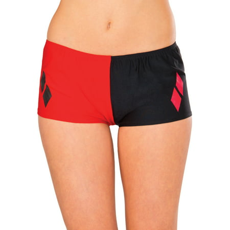Adult's Womens DC Comics Super Villain Harley Quinn Boy Shorts One - Women Supervillains