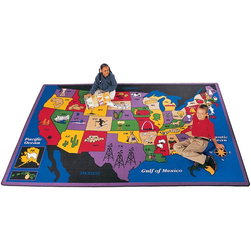 Carpets for Kids Geography Discover America Area Rug