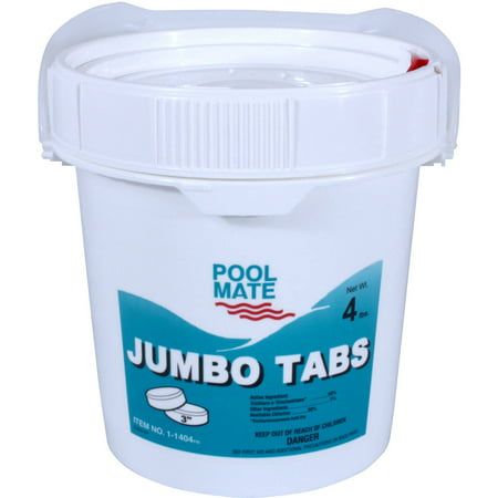 Pool mate jumbo 3 chlorine tablets for swimming pools for Chlorination of swimming pools