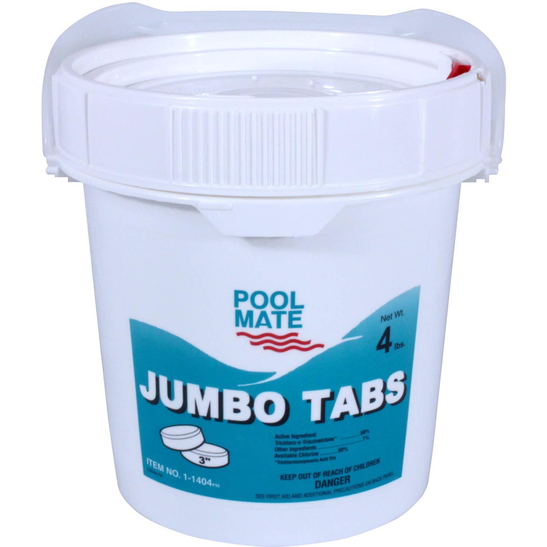 "Pool Mate Jumbo 3"" Chlorine Tablets for Swimming Pools"