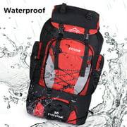 80L 100% Polyester Extra Load Outdoor Super Large Backpack Big Rucksack Bag Sport Travel Camping Hiking Bag(Orange, Blue, Red, Black)