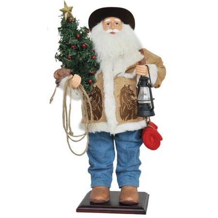 Santa's Workshop 24'' Home On The Range - Cowboy Santa Claus