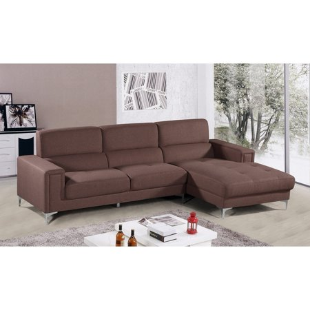 Best Master Furniture Modern 2-Piece Left Facing Chaise Living Room Sectional,