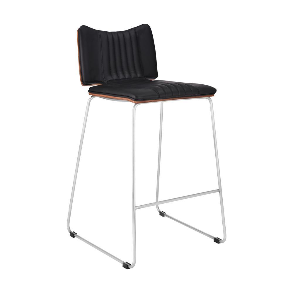 Malta Modern 26 Quot Counter Height Bar Stool In Brushed