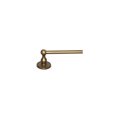 "Top Knobs ED10GBZD Edwardian Bath 30"" Single Towel Bar - German Bronze - Plain Backplate"