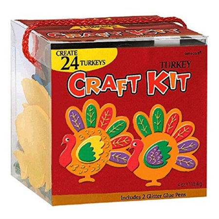 Thanksgiving Party Turkey Craft Kit | Makes Up To 24 Turkeys | Party Activity - Thanksgiving Crafts For Adults