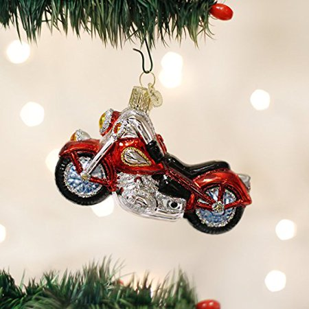 Old World Christmas Motorcycle Glass Blown - Old Fashioned Christmas Ornaments