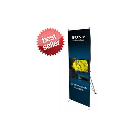 """Signworld X Banner Stand 24"""" x 63"""" Great for Advertising, Business Display and Trade Shows! (Marketing, Advertising, Promotional,Signs)"""