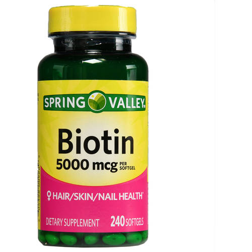 Spring Valley Biotin Softgels, 5000 mcg, 240 count