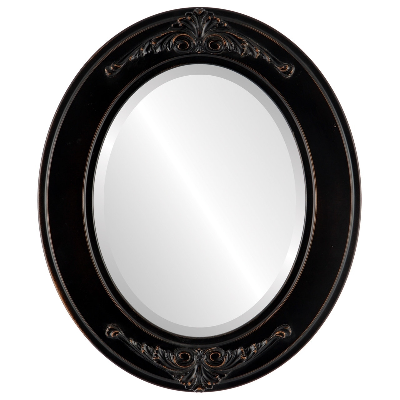 The Oval and Round Mirror Store Ramino Antique Rubbed Bronze Framed Oval Mirror by Overstock