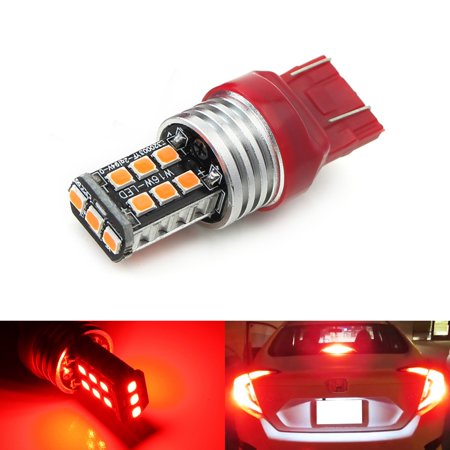 iJDMTOY (1) Strobe/Flashing Feature Red 15-SMD LED Replacement Bulb For 2012-up Honda Civic Sedan Third Brake Light