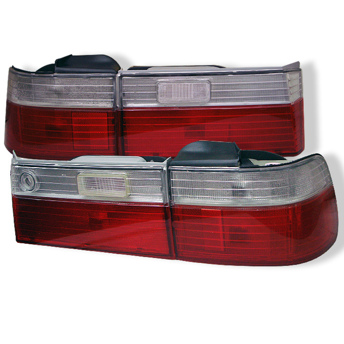 Spyder Honda Accord 90-91 4Dr Euro Style Tail Lights- Red Clear