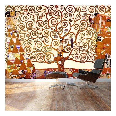 "wall26 - Large Wall Mural - Classic Painting - The Tree of Life by Gustav Klimt | Self-Adhesive Vinyl Wallpaper/Removable Modern Decorating Wall Art - 66"" x 96"""