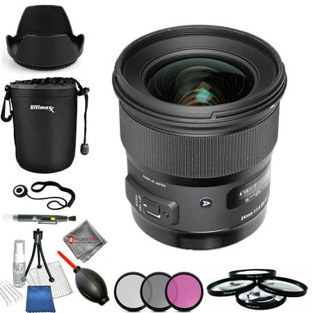 Sigma 24mm f/1.4 DG HSM Art Lens for Canon EF #401-101 Pro
