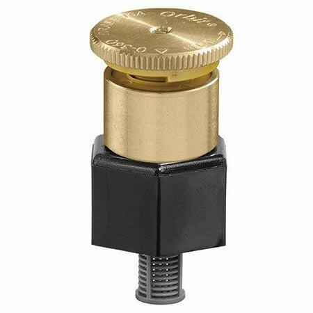 Orbit Adjustable Pattern Brass Irrigation Shrub Head Sprinkler, 15-Foot - 54054 Head Adjustable Pattern
