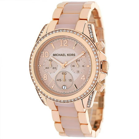 Women's Chronograph Blair Rose Gold Tone Glitz