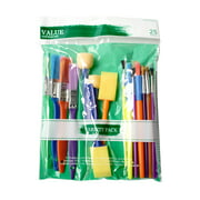 Craft Assorted Brush with Synthetic and Natural Hair, 25 Pack for Beginners