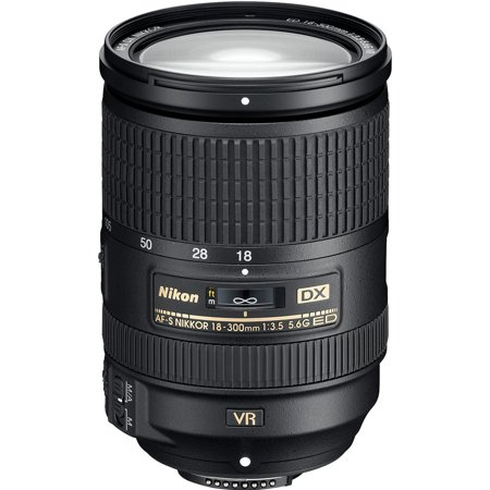 Nikon AF-S DX NIKKOR 18-300mm f/3.5-5.6G ED Vibration Reduction Zoom Lens with Auto Focus for Nikon DSLR