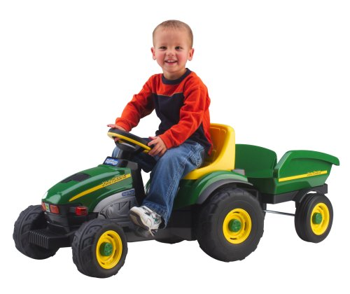 Peg Perego John Deere Farm Tractor & Trailer by